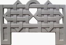 Forms an ogradok from ABS plastic. Ogradka No. 3