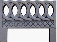 Forms an ogradok from ABS plastic. Ogradka No. 6