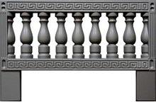 Forms an ogradok from ABS plastic. Ogradka No. 9