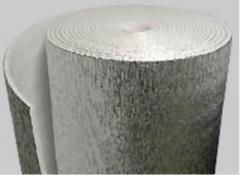 Polyethylene sheet made foam. Heaters for pipes