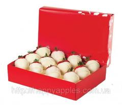 Strawberry in white chocolate