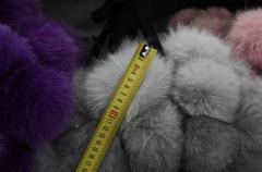 Production of pompons in Kharkiv, polar fox,