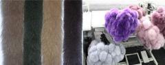 Pompons, buboes fur, edge from fur of polar fox