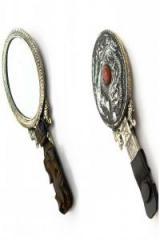 """Зеркало с ручкой """"Феникс дракон"""""""