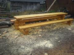 Мебель для саун и дач из дерева