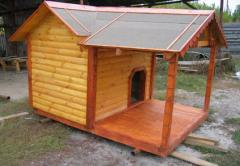 Вольеры и будки деревянные