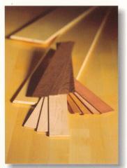 Ламель из разных пород дерева, для изготовления