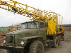 The SKB-4 drilling rig on base the URALS