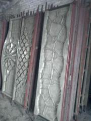 Fiberglass form of the panel of a fence