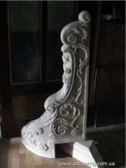 Carved columns for ladders the price