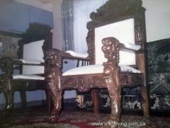 Carved wooden chairs Ukraine