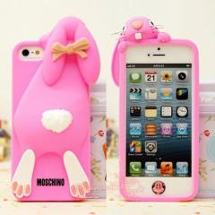 COVER ON IPHONE 5/5S MOSCHINO RABBIT PINK