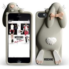 COVER ON IPHONE 5/5S MOSCHINO RABBIT GREY
