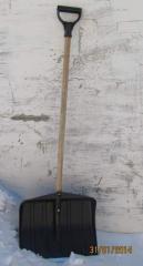 Shovel for snow easy and qualitative.