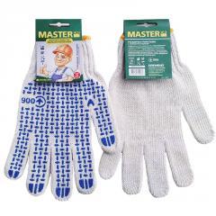 """Gloves x / """"MasterOK"""" white with"""
