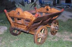 Декоративная деревянная повозка миниатюрная