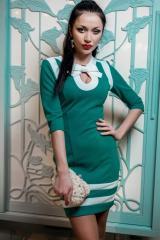 Платье Шанель бирюза+молоко
