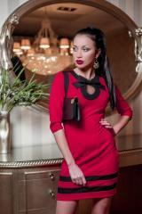 Платье Шанель коралл+черный