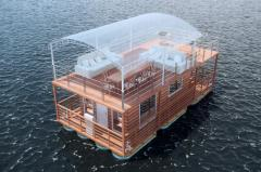 Houses are floating