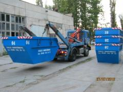 Containers for portal garbage trucks