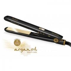 The iron for hair ceramic with argon oil