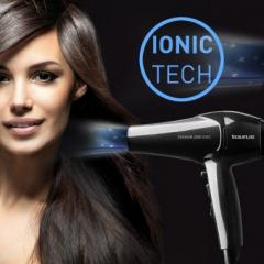 The hair dryer for hair with ionization and the