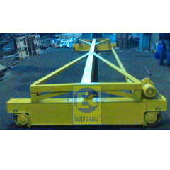Basic and suspended the crane beam from the