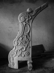 Column initial carved of the massif of an