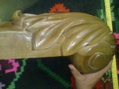 Handrail carved for ladders from the massif of an