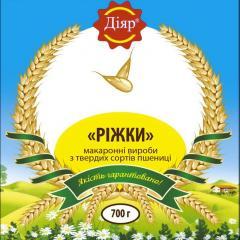 «РІЖКИ» макаронні вироби з твердих сортів пшениці