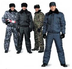 Military, security clothes