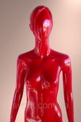 Женский манекен лакированный красный