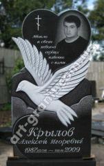 """Памятник из гранита """"голубь с сердцем"""""""