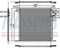RADIATOR MERCEDES V-CLASS W 638 (96-) CONDENSER