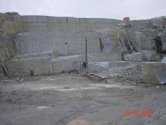 Blocks granite Pokostovsky field