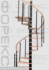 Helico new -Спиральная лестница с буковыми