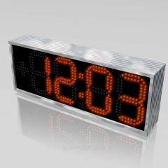 Часы-термометр светодиодные уличные 610х225...