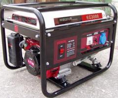 Бензиновый генератор Forester EC 5500 E3, Бензиновый генератор купить, Бензиновый генератор цена