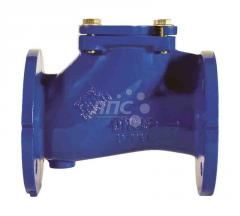 Backpressure sewer valve flange