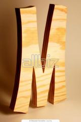 Буквы объемные деревянные