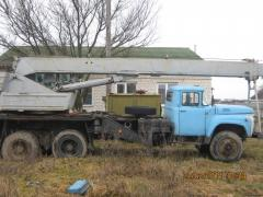The KC 3575 truck crane on base ZIL