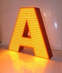 Объемные буквы с наружными светодиодами