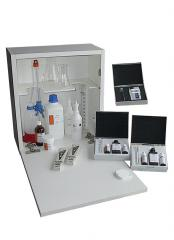 Analytical set for warm water