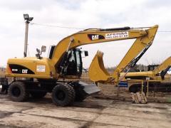 Excavator Atlas rent. Rent of the full revolving