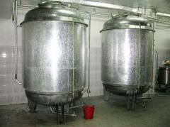 Tanks (tubs) beer and wine