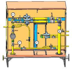 Шкафные регуляторные пункты ШРП для редуцирования (понижения) давления газа, применяются в бытовом и промышленном секторе: колонки, котлы, промышленные печи, горелки, а также другая газопотребляющая аппаратура