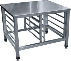Tables finishing of a stainless steel