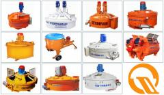 Concrete mixers industrial (planetary and rotor,