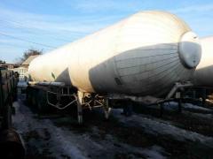 Semi-trailer tank carbon dioxide (carbon dioxide,