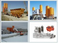 Бетонные заводы (бетоносмесительные установки,
